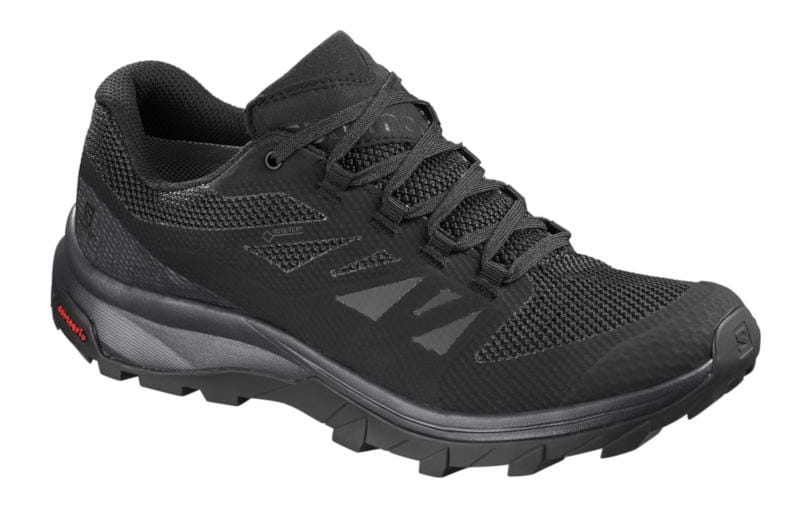czarne damskie buty trekkingowe salomon